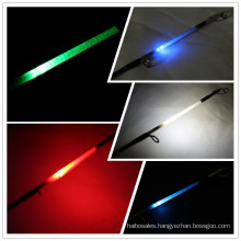 made in china fibreglass fishing rod LED light rod 2.10mt spinning rod