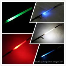 made in china vara de pesca de fibra de vidro haste de luz LED 2.10 mt haste de giro