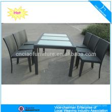 Elegant garden rattan KD dining furniture (2107+2003C)
