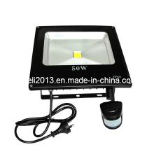 Luz de inundación al aire libre PIR sensor de movimiento 50W IP65