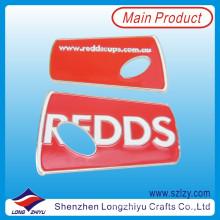 Abrebotellas personalizado de encargo del acero inoxidable del esmalte promocional del metal fresco