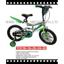 """Colorida bicicleta infantil de 12 """"con cubierta de acero de cadena completa"""