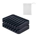 Soporte de jabón de ducha de plato de silicona de diseño antideslizante
