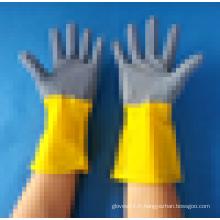 Gants en latex ménagers bleu / jaune en caoutchouc naturel