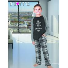 Miorre OEM Venta al por mayor% 100 algodón Niños Niño Impreso Pyjamas Pijamas Set