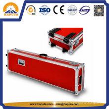 Estojo de alumínio para armazenamento de instrumentos com inserção de espuma macia