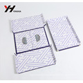 new design classic retro style cardboard foldable gift packaging box with snap button and metal angle protector
