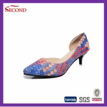 Moda PU Serpente Mulheres Bombas Sapatos