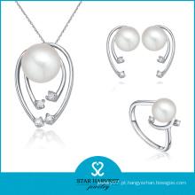 100% Handmade Fashion Pearl Necklace e Ring Jewelry Set (J-0080)