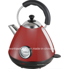 Red Color Electric Kettle with Thermometer Sb-3019lt
