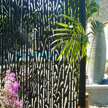 Laser Cut Outdoor Metal Privacy Screen