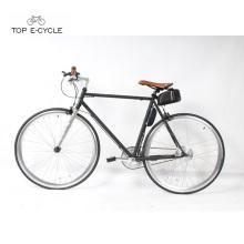 700c aço frame única velocidade elétrica bicicleta única velocidade fixa engrenagem bicicleta