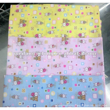 """100% polyester printed 44/5"""" with peach finish"""