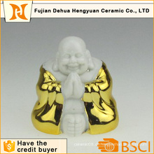 Gold Plating Keramik Buddha für Home Decoration