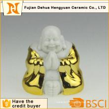 Gold Plating Ceramic Buddha for Home Decoration