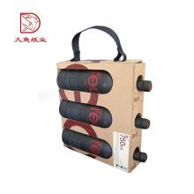 Großhandelsgewohnheit druckte tragbaren Weinflaschenkasten des Geschenks 3 des Luxus
