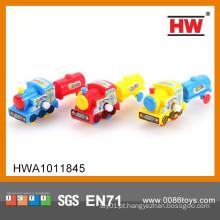 Cartoon crianças engraçadas W / U carro brinquedos Mini Toy Train