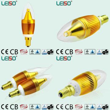 Frame Shape LED Candles with E14 and B12 Base