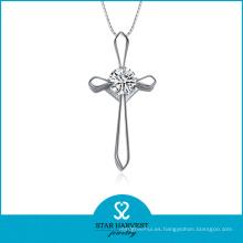 Collar pendiente de plata de la manera 925 de la joyería con precio barato (N-0161)