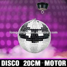 """ROTATING DISCO BALL DECKE MOUNT SILBER 1.5RPM MOTOR SPINNING PARTY DECOR"