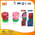 Made In China Musical Lotus Flower Firework Birthday Candle