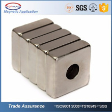 N52 Neodimio Cuadrado / Anillo con tornillo Agujero Neodimio Magnet