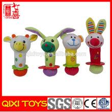chocalho de segurança tambor crianças brinquedos sino chocalho do bebê brinquedos chocalho