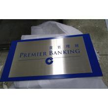 Sinal de publicidade de aço inoxidável Silkscreen placa de metal