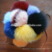 Fox Fur Ball Key Ring Fur Balls Keyrings 12 Colors Keychain