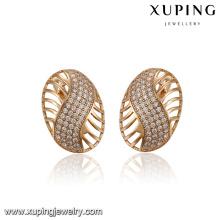 93398 Xuping neueste Modell Mode Reifen Schmuck Ohrring für Damen mit weißem Stein