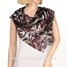 Women's fashion new printing big leopard polyester triangle scarf shawl