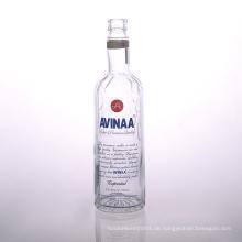 Gedruckte 700ml Glas Wodka Flasche Lieferanten