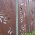 Laser Cut Metal Screen Pagar