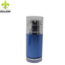 Wholesale custom face cream blue airless pump bottle 50ml