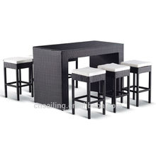 Outdoor Rattan Tall Bar Table And Chairs