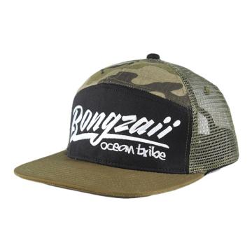 Personnalisé sport homme modèle promotion chapeau à ras bord plat camionneur maille casquette