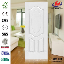 JHK-003 3.2MM HDF Gran Wood Grain White Primer Moulded Door Skin Populaire en Asie