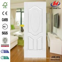 JHK-003 3.2MM HDF Grande grão de madeira White Primer moldado porta pele Popular na Ásia