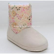 2015 fashion colorido malha botas de inverno barato com solteiro único inverno botas para botas de inverno mulheres