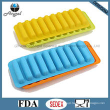 100% Food Grade Silicone Ice Mould para Popsicle Cube bandeja Si13
