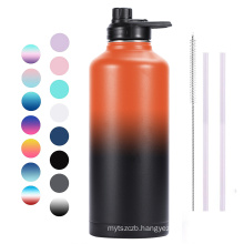 80oz Double Walled 304 Stainless Steel Vacuum Flask Sports Water Bottle with Flex Lid