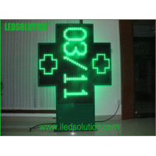 High Quality Cross Green LED Sign Display P20