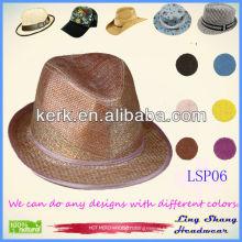 2013 Wholesale Simple Fashion 100% Natural paper hats paper straw hat paper hat ,LSP06