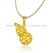 fashion jewelry Gold Plated Cucurbit Pendants For Best Friends