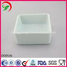 Factory direct wholesale white porcelain pet bowl,