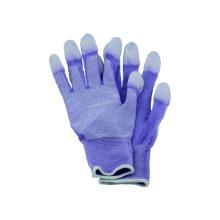 13G gestrickter nahtloser Polyster Liner Handschuh mit PU beschichtet