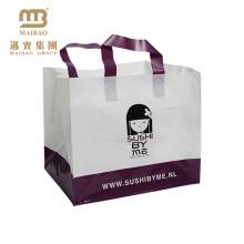 Eco-Friendly Heavy Duty Custom Design Printing Grocery Restaurant Comida Para llevar Plástico Carryout Bag