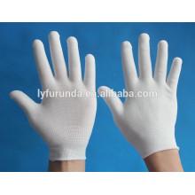 Gants à main tricotés en nylon / polyester à 13 calibres Gants de travail à l'inspection des doublures