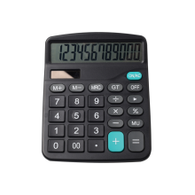 12 Digits Office Dual Power Calculator
