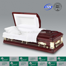 LUXES ataúd ataúdes madera de buena voluntad Funeral con la guarnición del ataúd